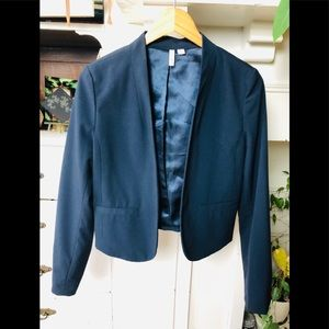 Crop Blazer Navy Blue